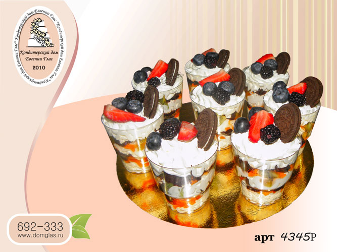 р десерт в стаканчике ягоды орео