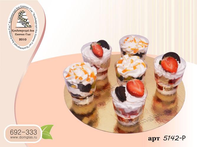 р десерт в стаканчике орео клубника