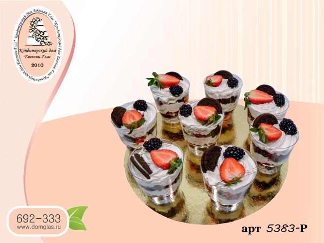 разные сладости трайфлы клубника ежевика орео