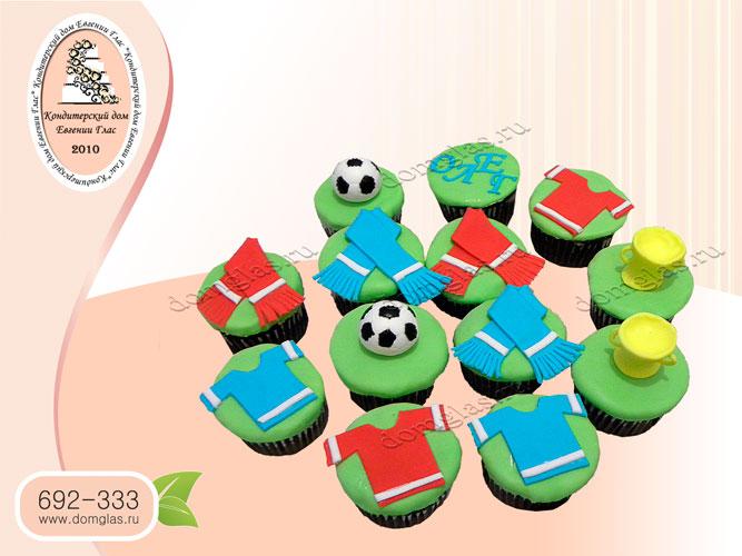 капкейки футбол футбольный мяч майки