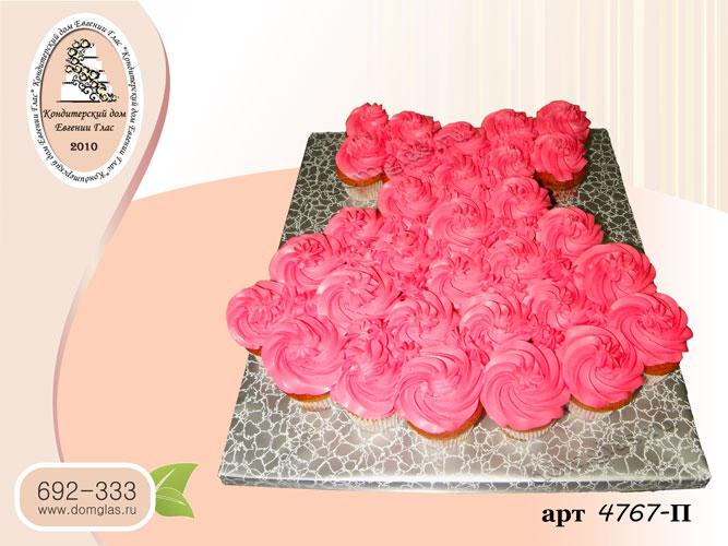 п капкейки в форме платья розовые