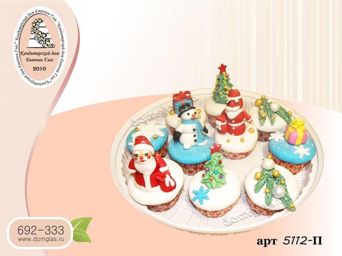 п капкейки новогодние елка снеговик  фигурки