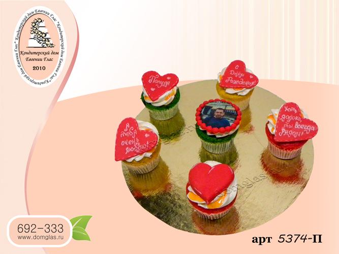 пирожные капкейки фотопечать медальоны с надписями