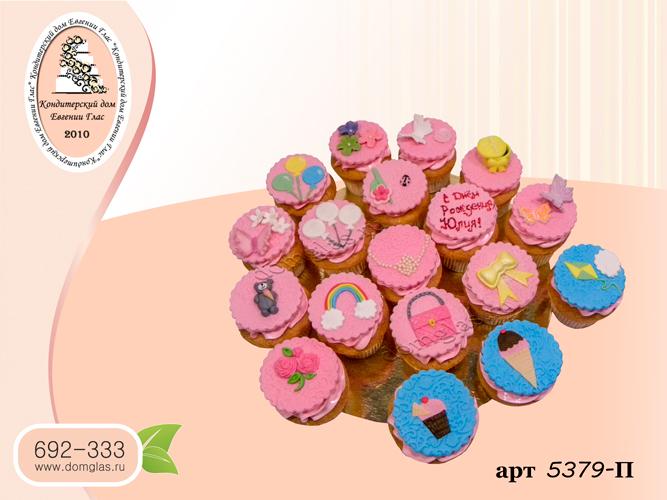 пирожные капкейки аппликации фигурки розовые