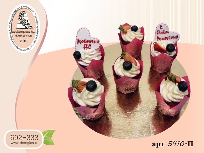 пирожные капкейки ягодные клубника голубика
