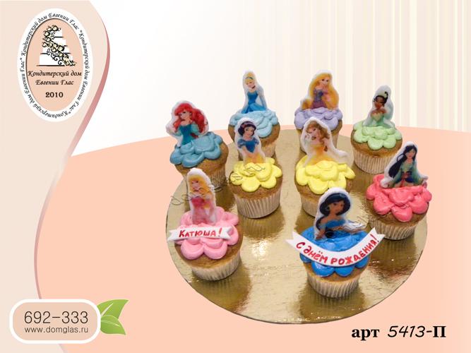 пирожные капкейки принцессы фотопечать