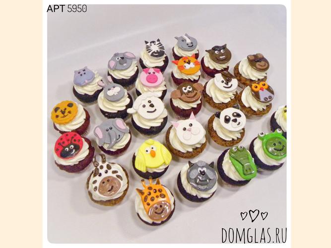 пирожные капкейки с животными