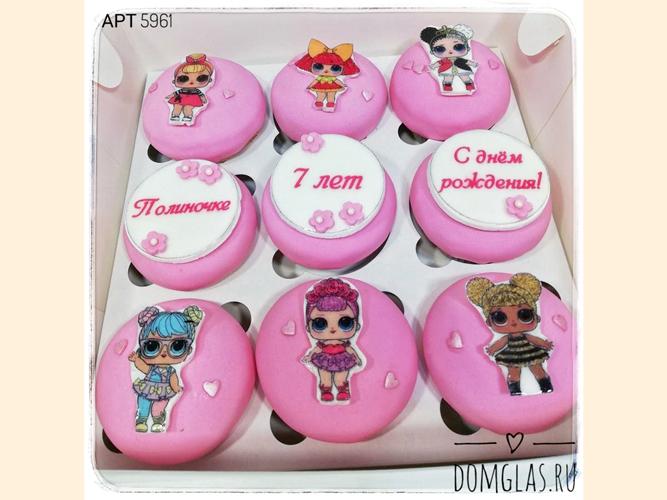 пирожные капкейки с куклами LOL