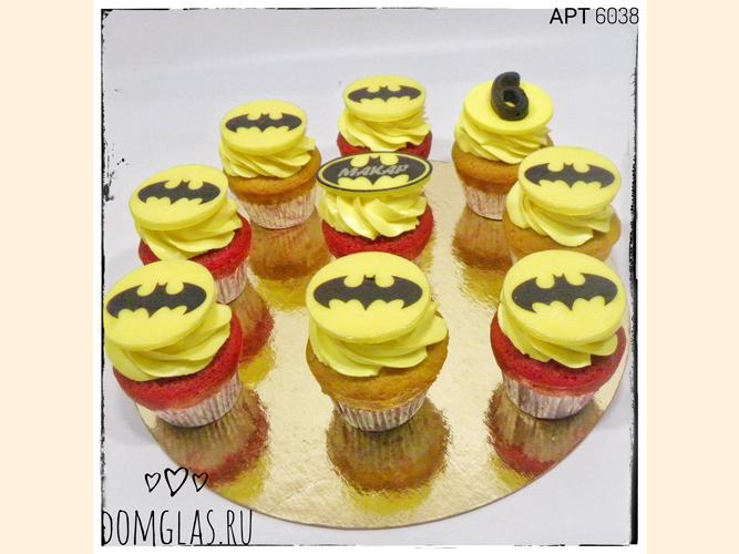 пирожные капкейки супермен