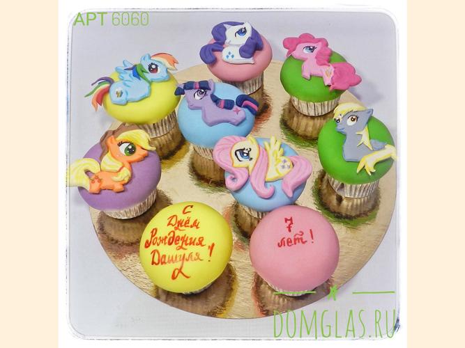 пирожные капкейки с пони ко дню рождения