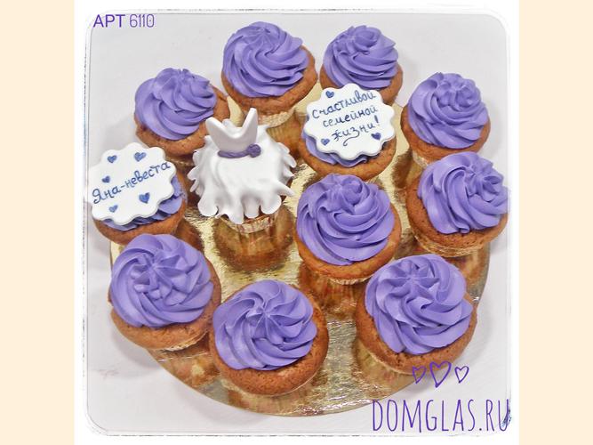 пирожные капкейки свадебная тематика для невесты