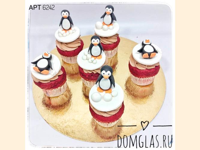 пирожные капкейки пингвины 3D
