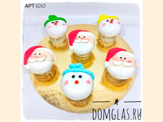пирожные капкейки Деды Морозы