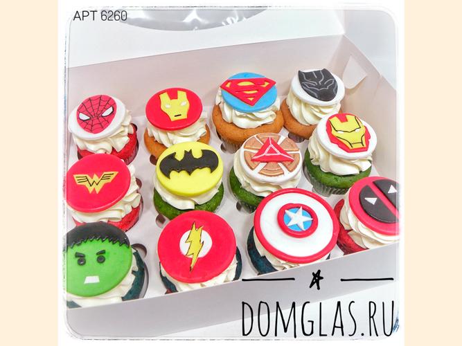 пирожные капкейки с супергероями