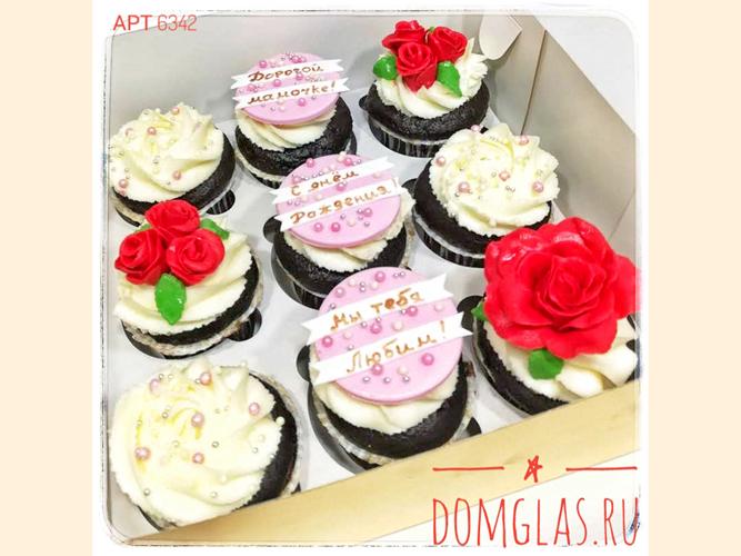 пирожные капкейки с цветами