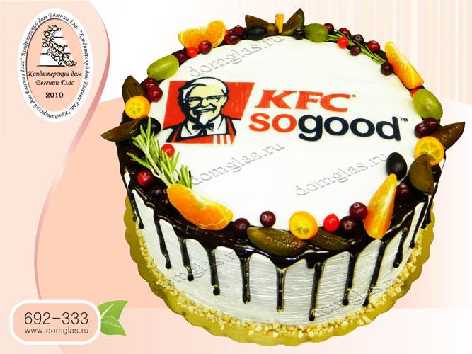 торт корпоративный безмастичный фотопечать логотип