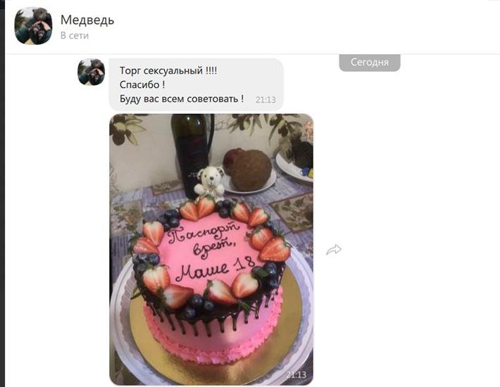 отзыв на женский торт