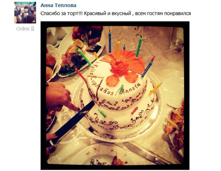 отзыв клиента торт женский двухъярусный