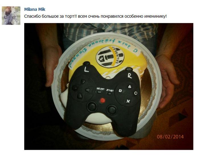 отзыв клиента торт тематический мужской