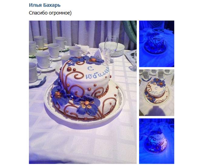 отзыв клиента торт тематический двухъярусный