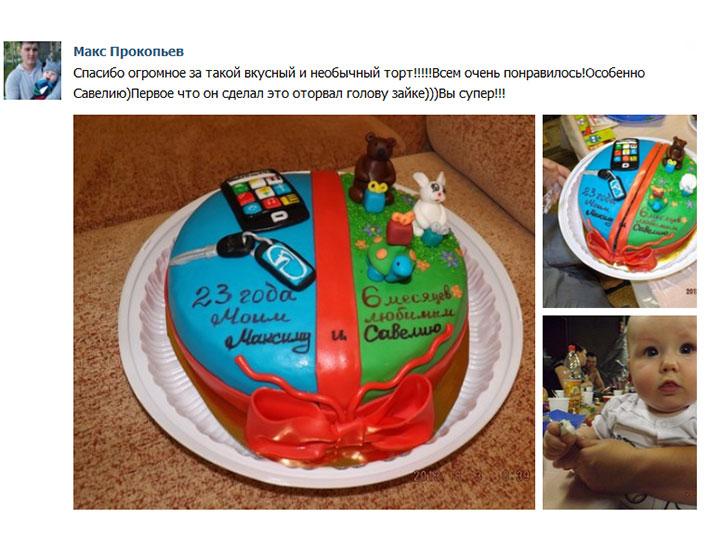 отзыв клиента торт тематический день рождения
