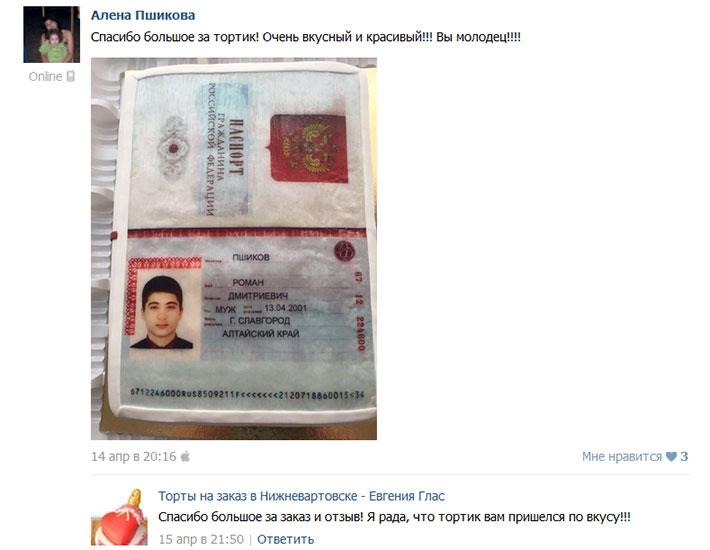 отзыв клиента торт тематический паспорт