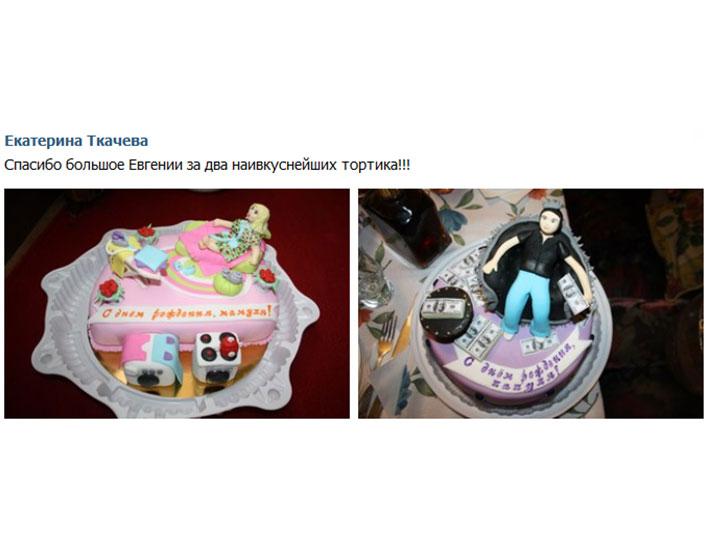 отзыв клиента торты тематические