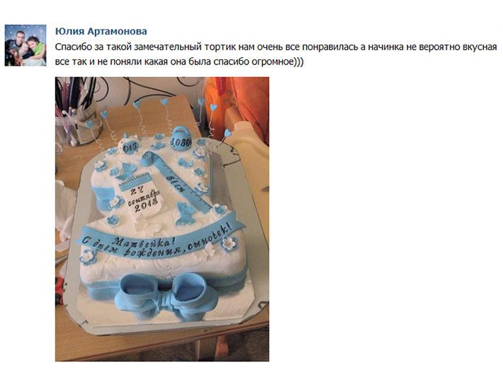 отзыв клиента торт детский цифра метрика