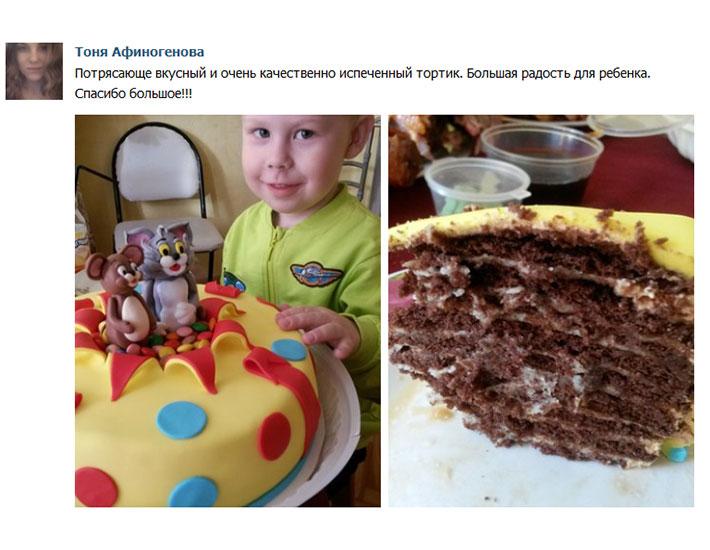 отзыв клиента торт детский том и джери
