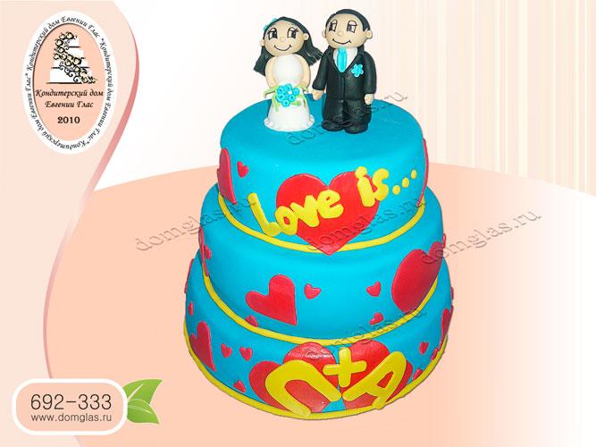 торт свадебный лавис love is ярусный