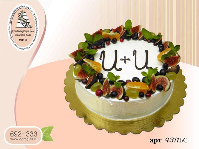 бс торт безмастичный с фруктами и мятой