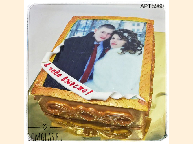 свадебный с фотопечатью годовщина свадьбы