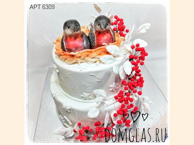 свадебный двухъярусный с гнездышком