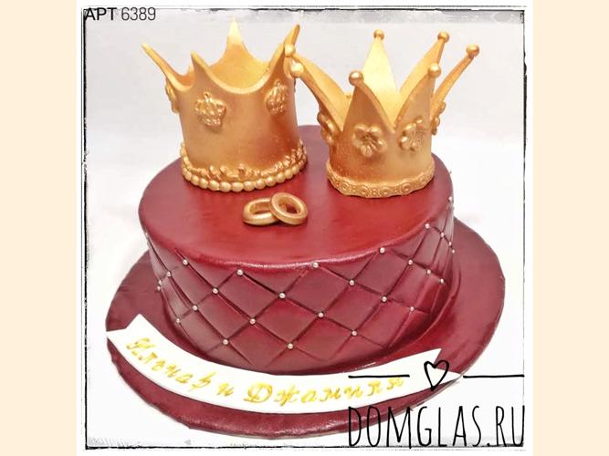 свадебный с двумя коронами и кольцами