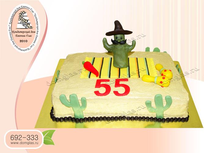 торт тематический кактус пустыня мексика песок