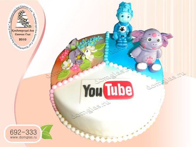 торт тематический лунтик youtube ютюб цветы