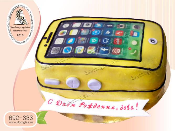 торт тематический айфон телефон смартфон техника