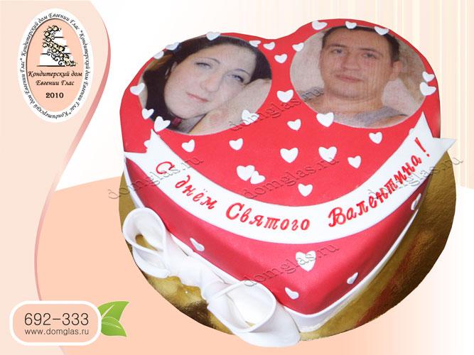 торт тематический сердце любовь валентин