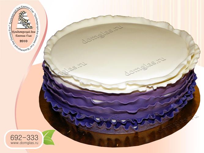 торт тематический белый с синим