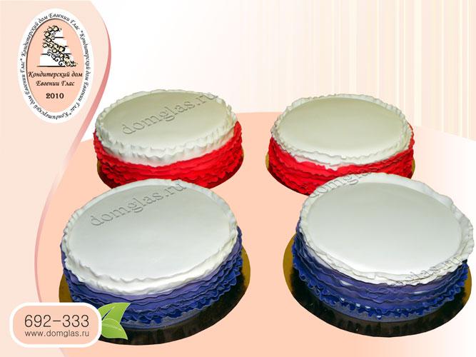торт тематический белый красный синий