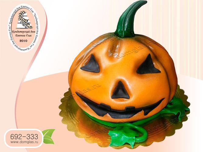 торт тематический тыква хэллоуин