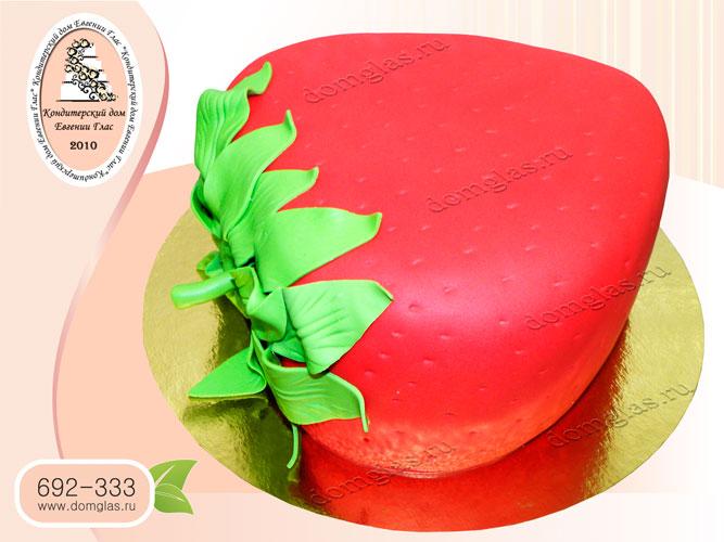 торт тематический клубника