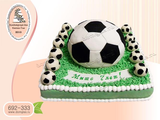 торт тематический футбол футбольное поле мяч