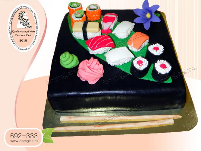 торт тематический суши ролы