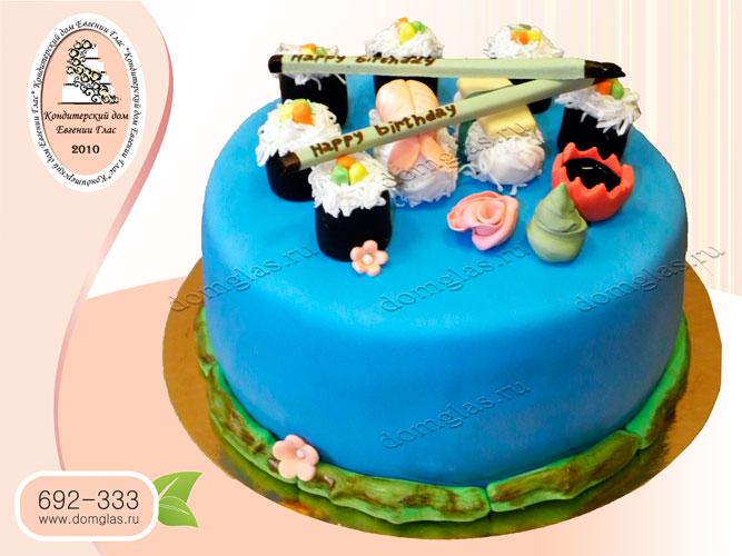 торт тематический суши ролы палочки