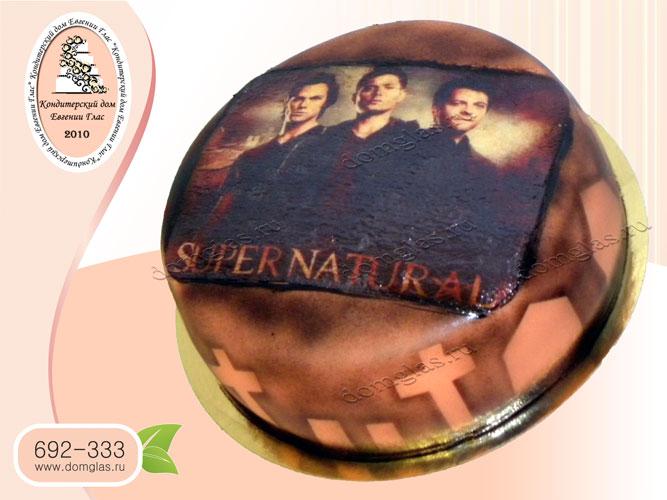 торт тематический supernatural сверхестественное