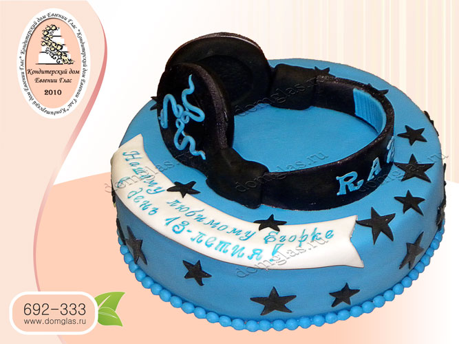 торт тематический наушники музыка