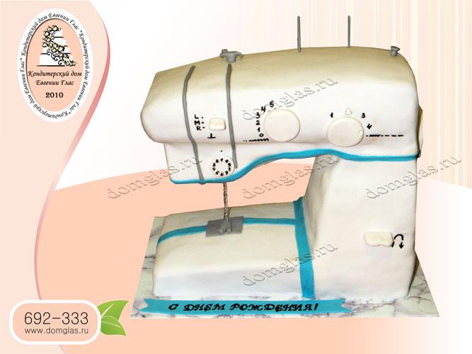 торт тематический швейная машинка