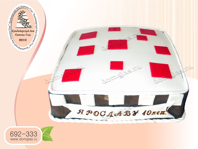 торт тематический из игры minecraft