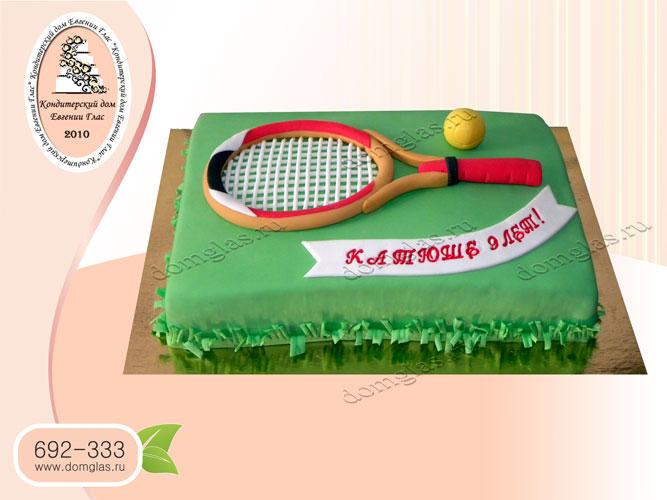 торт тематический большой теннис